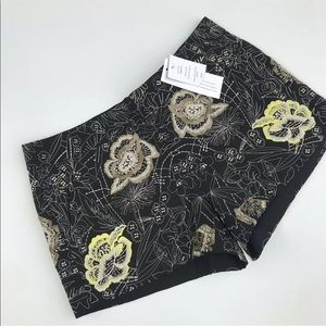 NWT French Connection Shorts San Fran Embroidered